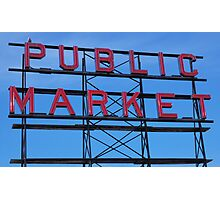 Pike Place Market Number 3, Seattle Photographic Print