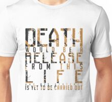 ARROW Deathstroke Quote Text Unisex T-Shirt