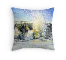 Crest of a Wave Throw Pillow