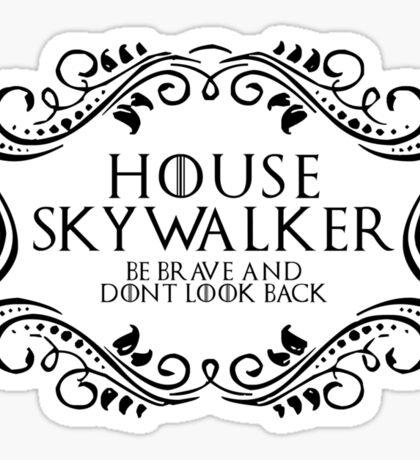 House Skywalker (black text) Sticker