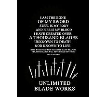 Unlimited Blade Works - Incantation Photographic Print