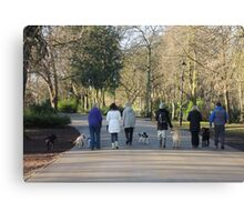 Dogwalkers Canvas Print