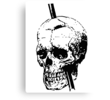 The Skull of Phineas Gage Vintage Illustration Vector Canvas Print