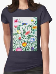beautiful illustration of Hand Painted flower Wild  T-Shirt