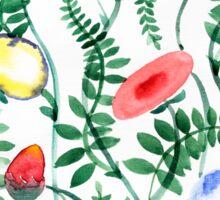 beautiful illustration of Hand Painted flower Wild  Sticker