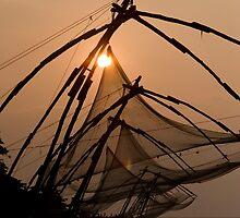 Chinese Fishing Nets- Kochi/Cochin, India by Pranaphoto