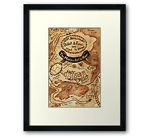 Marauders Map Framed Print