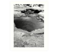 Bear Creek on ice Art Print