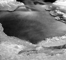 Bear Creek on ice by Jen Millard