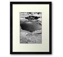 Bear Creek on ice Framed Print