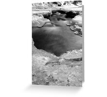 Bear Creek on ice Greeting Card