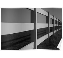 """ Long Fence""(B&W) Poster"