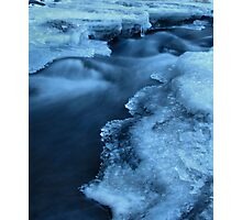 Blue Silk Photographic Print