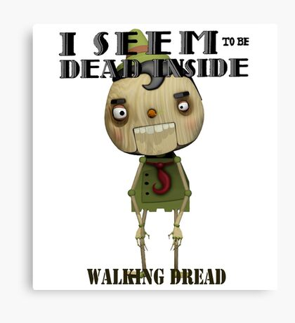 Pinocchio Walking Dread Zombie Humor Canvas Print