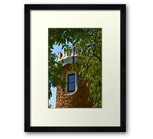 Fairy Tale Building Through the Trees - Impressions Of Barcelona Framed Print