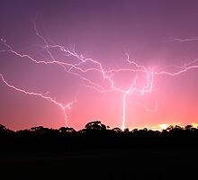 Sunrise Reverse Lightning by Rikki  Pool