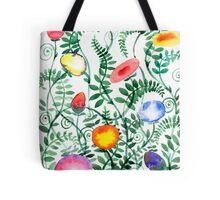 beautiful illustration of Hand Painted flower Wild  Tote Bag