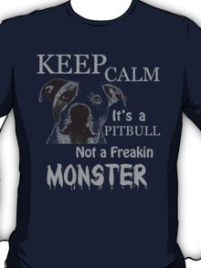 keep calm its a pit bull not a freakin monster T-Shirt