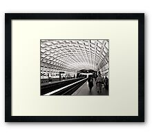 Waiting for the Metro, Washington DC Framed Print