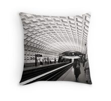 Waiting for the Metro, Washington DC Throw Pillow