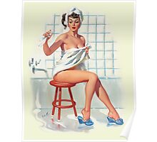 Bathing Pin-up Poster