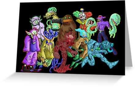 poster II: creatures from the bizarre... by kangarookid
