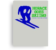 Horace Goes Skiing Canvas Print