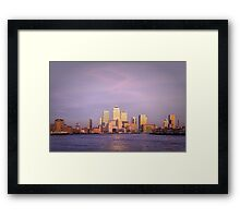London, Canary Wharf at twilight Framed Print