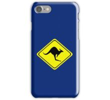 Kangaroo Crossing Sign iPhone Case/Skin