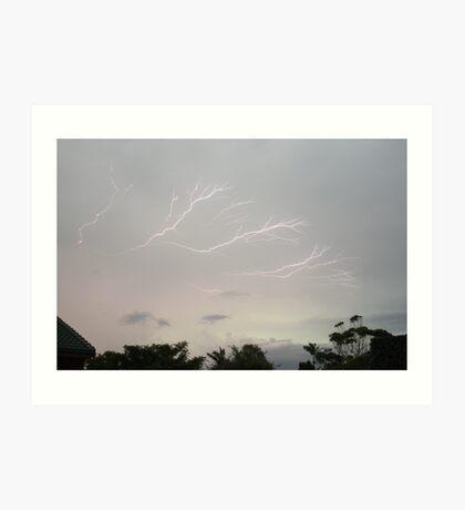 Lightning Strike...look out! Art Print