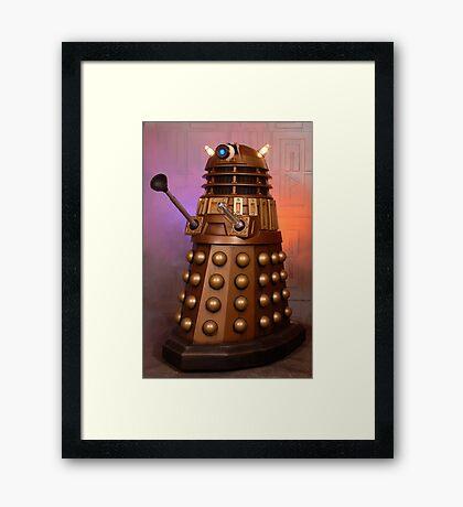 Gold Doctor Who Dalek from 2005 Framed Print