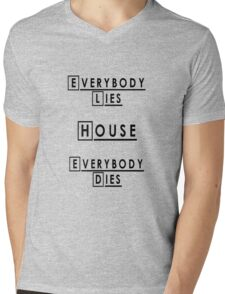House MD Everybody Lies Mens V-Neck T-Shirt