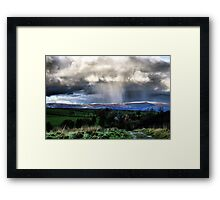 Snow on the hills Framed Print