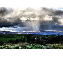 Snow on the hills Photographic Print
