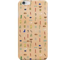 Hieroglyphic Alphabet iPhone Case/Skin