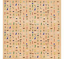 Hieroglyphic Alphabet Photographic Print