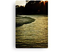 Boat Cove in Shadow Canvas Print