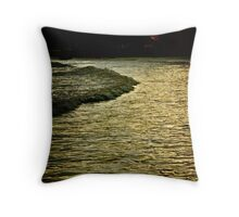 Boat Cove in Shadow Throw Pillow