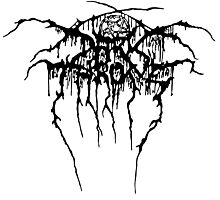 Darkthrone Logo - Black Photographic Print