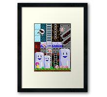 Retro 8-bit design Framed Print