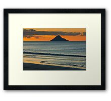Whale Island at Sunset Framed Print