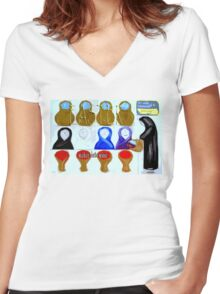 EASTER 44 Women's Fitted V-Neck T-Shirt