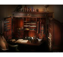 Pharmacist Desk Photographic Print