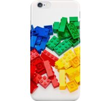 4 colors lego bricks blue green yellow red iPhone Case/Skin