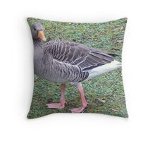 Benji The Greylag Gosling Throw Pillow