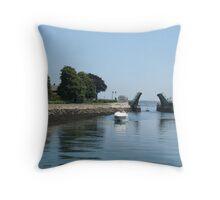 Drawbridge, in Gloucester, Massachusetts Throw Pillow
