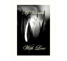 My Valentine With Love Art Print