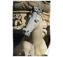 Horse Detail from Neptune Statue, Florence  Poster