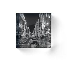 Lost in the City - B+W Acrylic Block