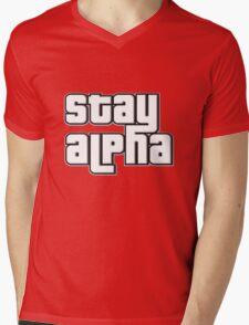 STAY ALPHA Mens V-Neck T-Shirt